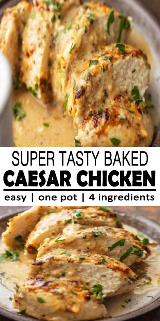 Baked Caesar Chicken