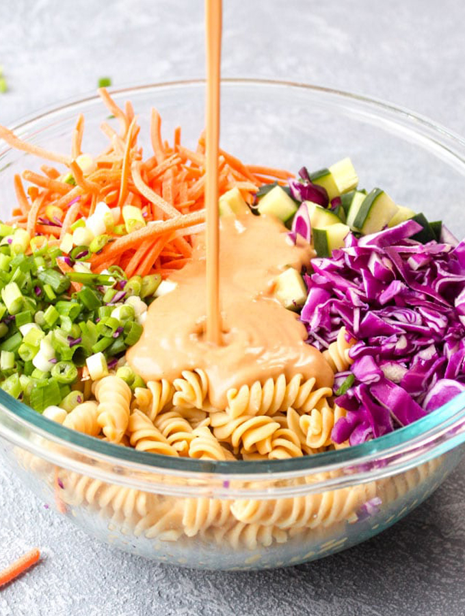 Protein Packed Thai Pasta Salad