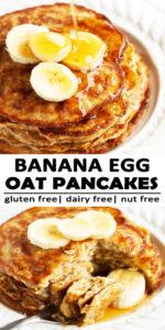 Banana Egg Oat Pancakes Recipe