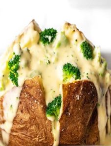 Broccoli Cheddar Stuffed Potatoes