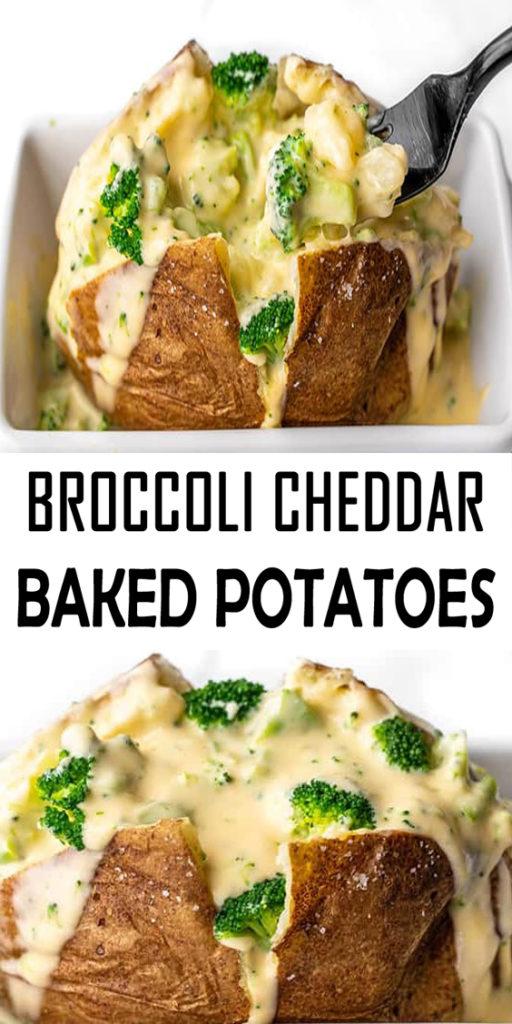 Broccoli Cheddar Stuffed Potatoes Recipe